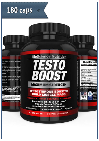 Testosterone Booster 180 capsules per package - Pharm Trusted Online Store